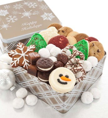 Sparkle Snowfall Tin Happy Holidays Treats Assortment
