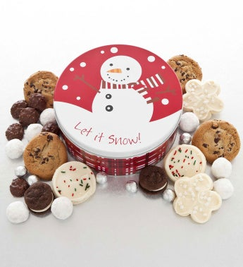 Snowman Treats Tin