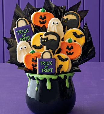 Ceramic Halloween Cookie Flower Pot