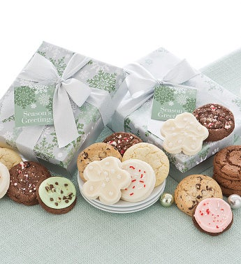 Elegant Holiday Cookie Gift Boxes