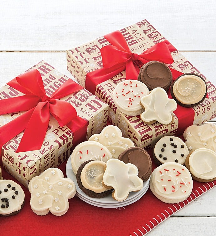 merry and bright cookie gift boxes