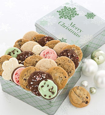 Elegant Holiday Gift Tin Assorted - Merry Christmas