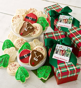 Warm Holiday Wishes Cookie Boxes