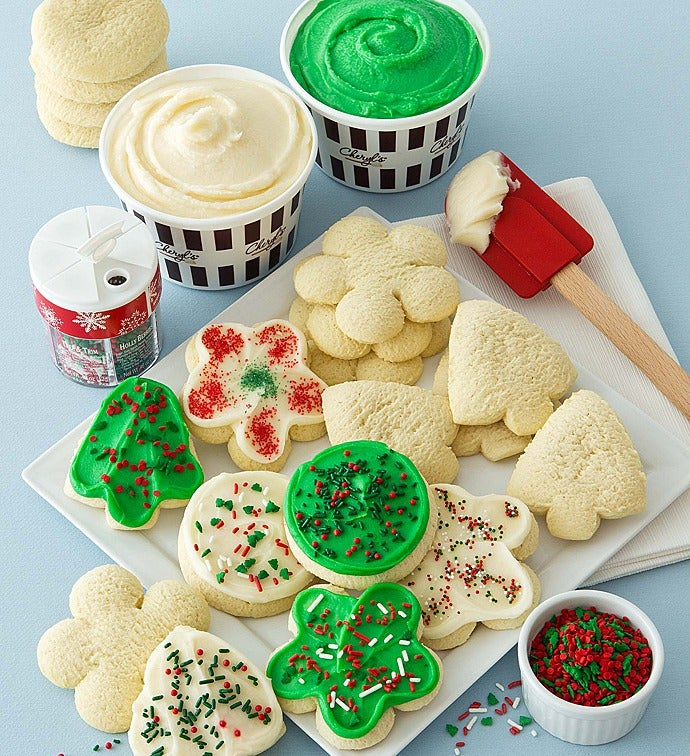 holiday cut out cookie decorating kit