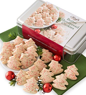 Butter Shortbread Gift Tin - Trees