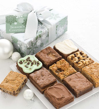 Elegant Holiday Brownie Sampler