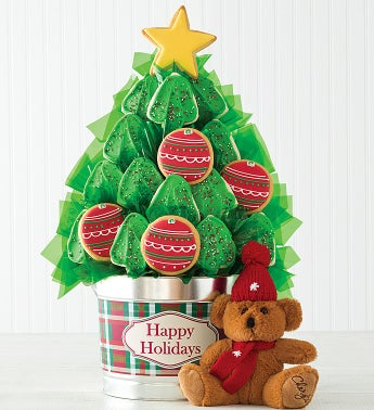Christmas Tree Cookie Flower Pot - 18 Cookies