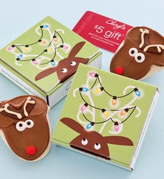 Reindeer Cookie Card