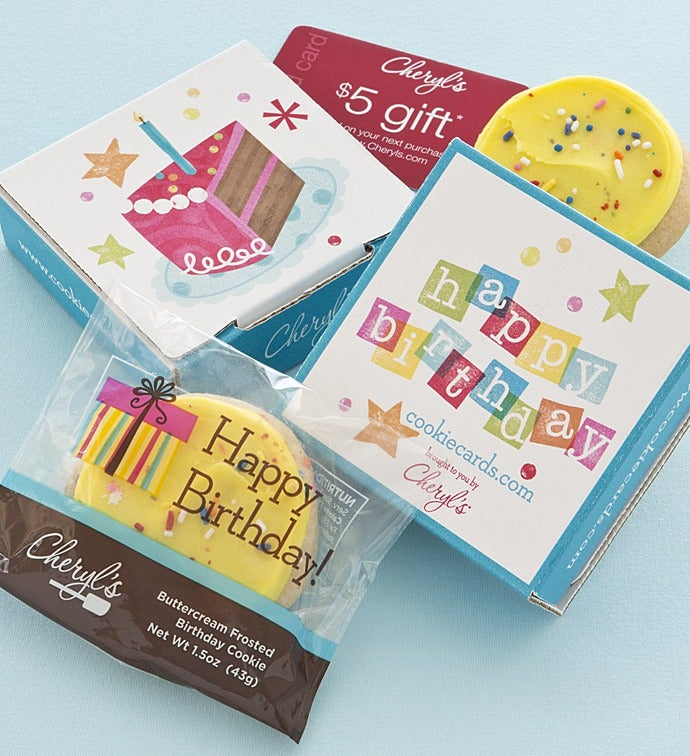 Birthday Cake Cookie Gift Card