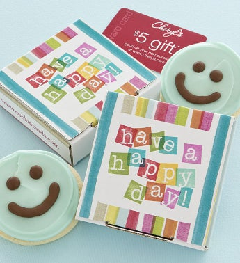 Have a Happy Day Cookie & Gift Card - Blue