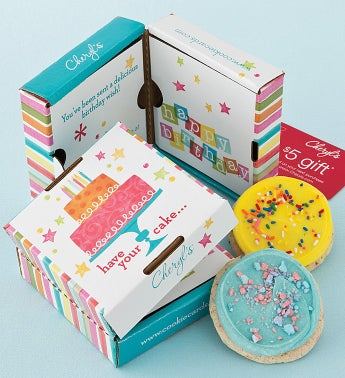 Birthday Cookie & Gift Card  2 Pack
