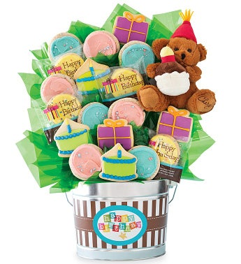 Grand Cookie Flower Pot - Birthday