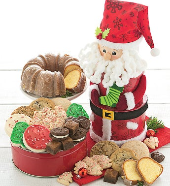 Santa Gift Tower with Cake