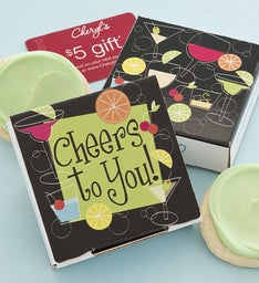 Cheers to You Cookie Card -  Key Lime