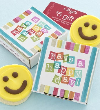 Have a Happy Day Cookie & Gift Card - Yellow