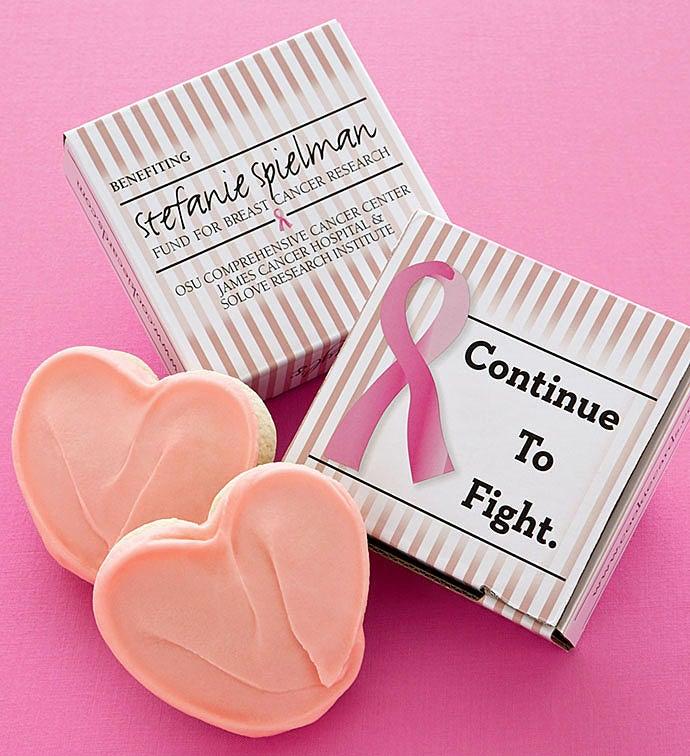Pink Ribbon Cookie Card