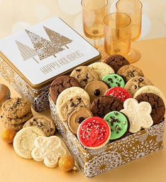 Holiday Dazzle Gift Tin Assorted Cookies