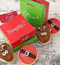 Naughty And Nice 2 Pack Cookie & Gift Card