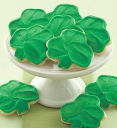 Frosted St Patricks Day Cookies