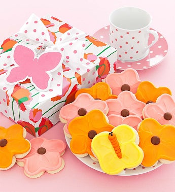Spring Poppy Gift Boxes - Frosted Cutout Cookies