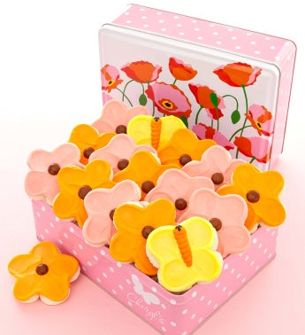 Spring Poppy Gift Tin - Cutouts