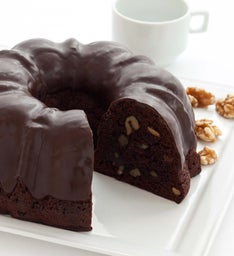 Miss Grace Chocolate Fudge Cake with Walnuts
