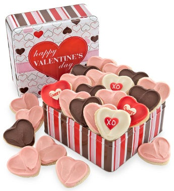 Happy Valentines Gift Tin 24 Cutouts