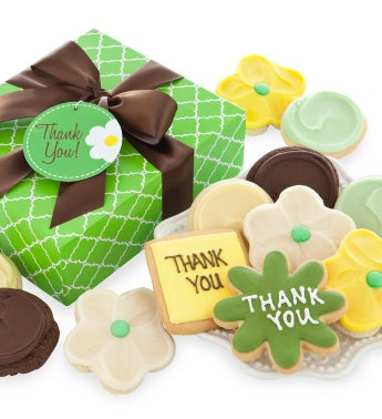 Spring Daisy Thank You Cookies