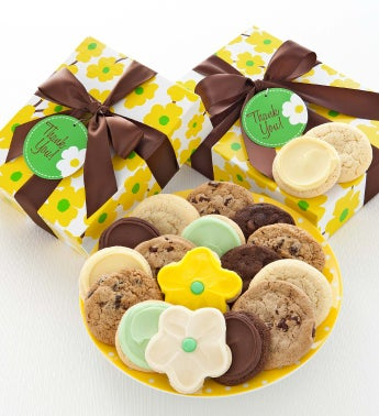 Spring Daisy Cookie Box Thank You
