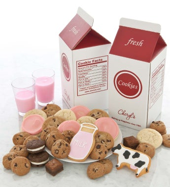 Strawberry Milk and Cookies Treats Box