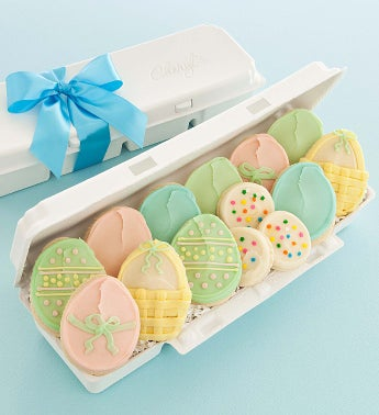 Easter Egg Carton Hand Decorated Easter Cookies