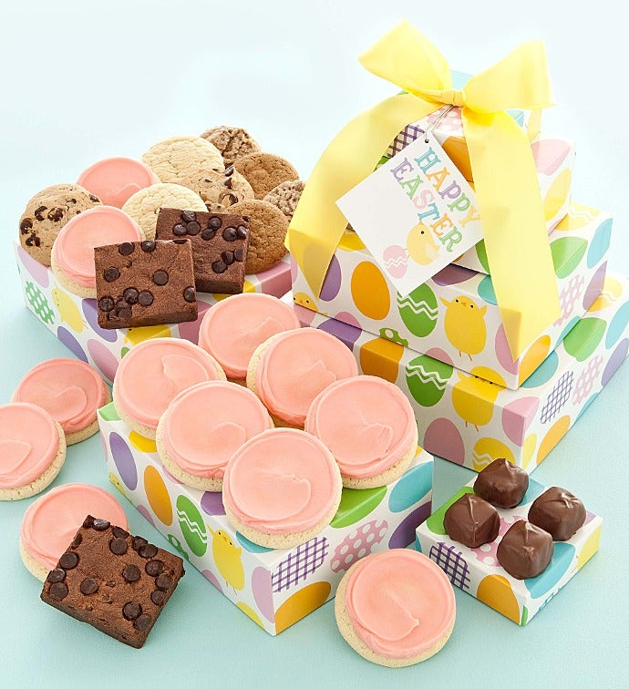 Easter gift tower sugar free negle Image collections