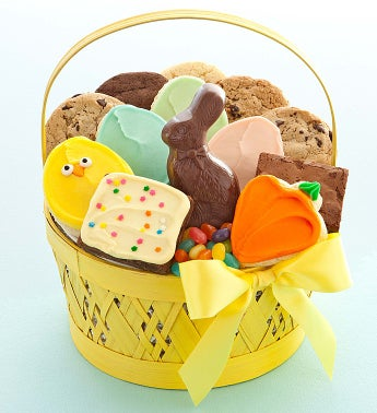 Yellow Easter Treats Basket