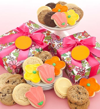 Spring Floral Cookie Box Assorted