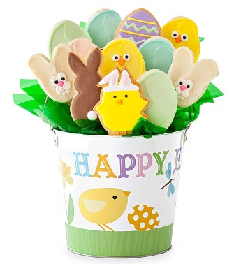 Happy Easter Cookie Flowers