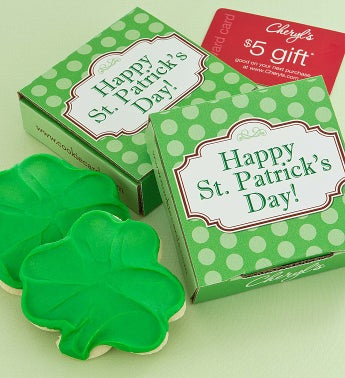 Happy St Pats Cookie Card