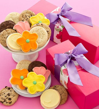 Spring Floral Gift Box - Assorted Cookies