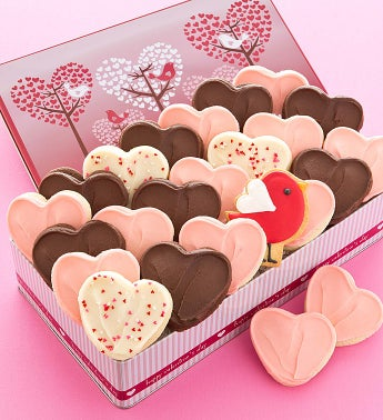 Love Bird Gift Tin - 24 Cutout Cookies