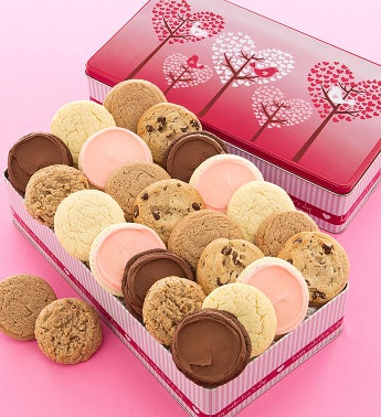 Love Bird Gift Tin - 24 Sugar Free Cookies