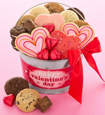 Layered Heart Buttercream Pail