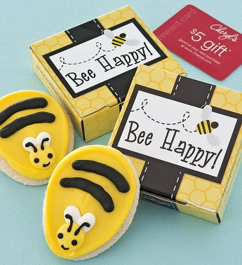 Bee Happy Cookie & Gift Card