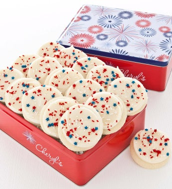 Summer Fun Gift Tin - 16 Patriotic Cookies