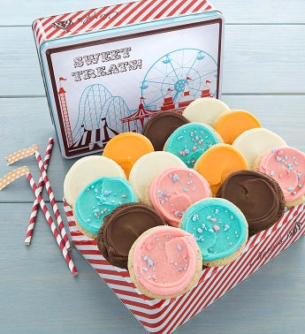 Carnival Gift Tin Frosted Cookies