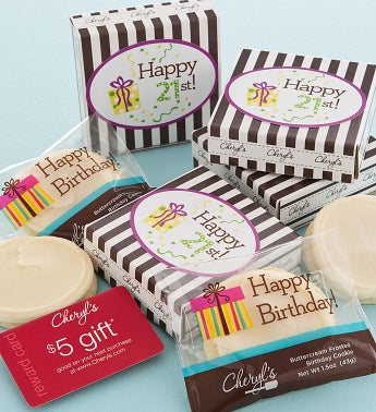 21st Birthday Cookie & Gift Card