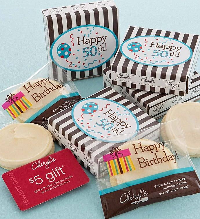 50th Birthday Cookie Gift Card