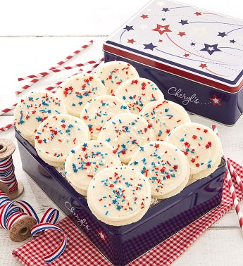 Shooting Star Tin Patriotic Cookies