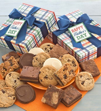 Fathers Day Cookie and Brownie Gift Boxes