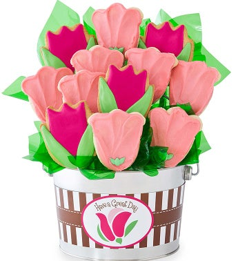 Pink Tulip Flower Pot