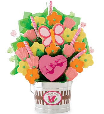 Grand Mothers Day Cookie and Candy Flower Pot
