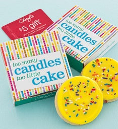 Too Many Candles Cookie & Gift Card
